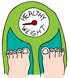 healthy weight on scales